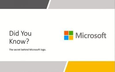 Secret behind Microsoft logo
